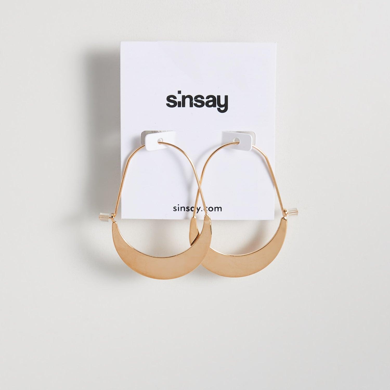 biżuteria sinsay - kolczyki z ozdobnym detalem - beżowy - sinsay