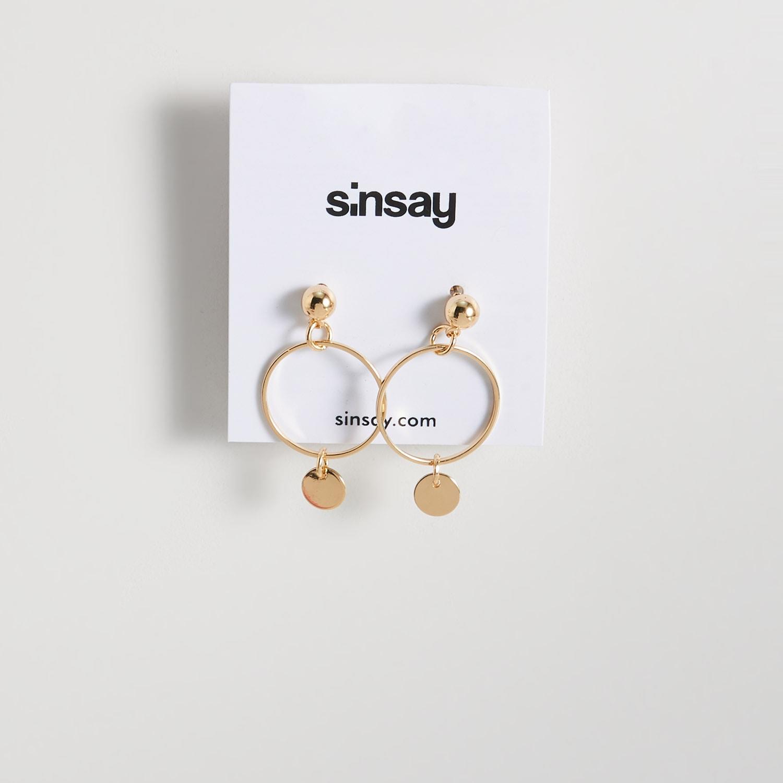 biżuteria sinsay - kolczyki z zawieszkami - beżowy - sinsay