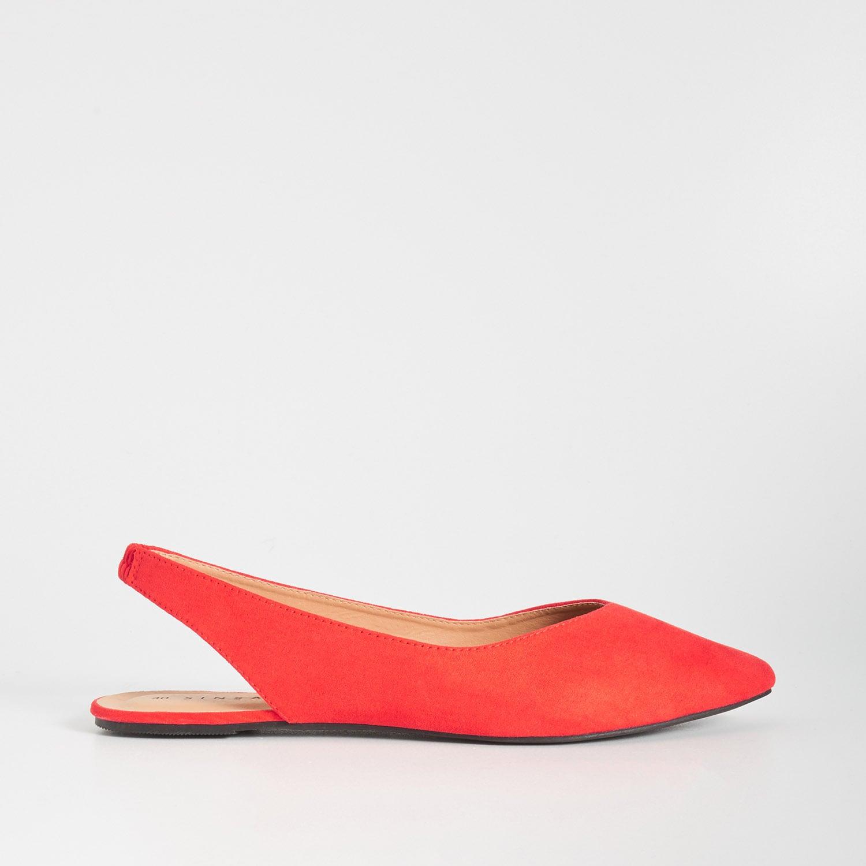 sinsay - baleriny z czubkiem w szpic - czerwony - sinsay