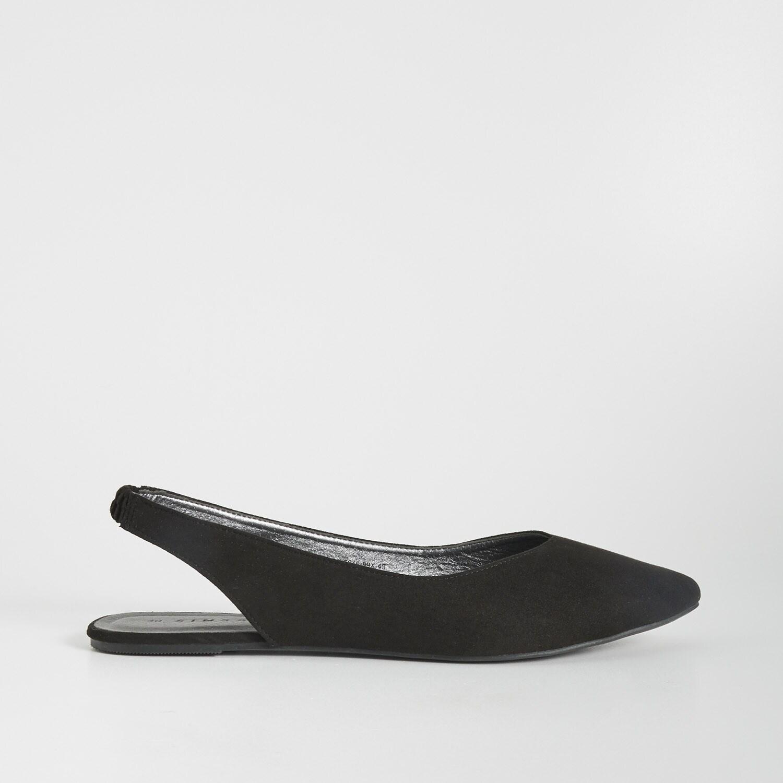 sinsay - baleriny z czubkiem w szpic - czarny - sinsay