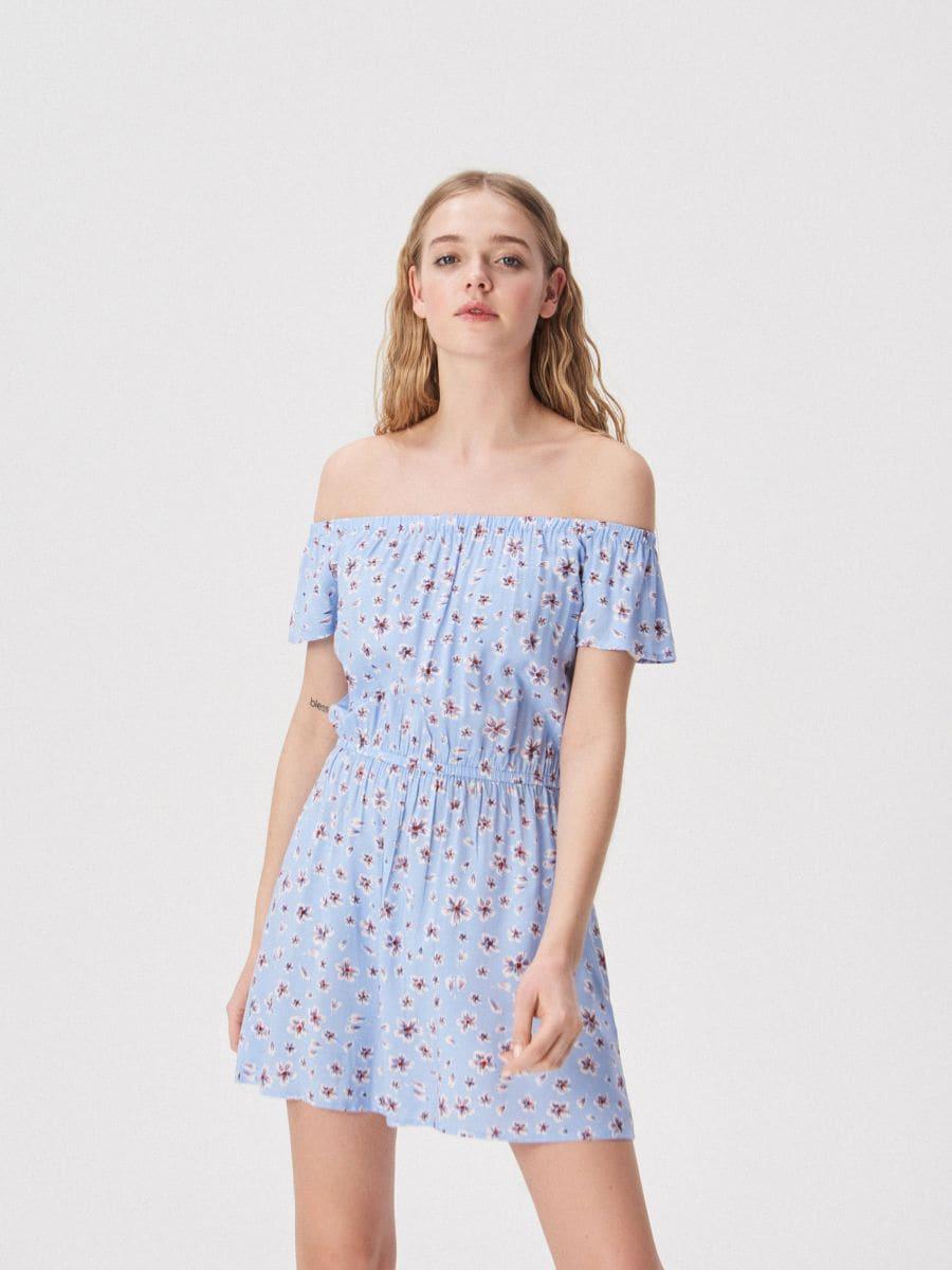 d0951bb660e4 Farebné kvetinové šaty