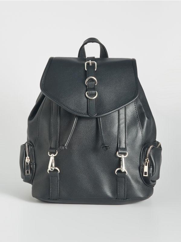 0bf2aaa632a1 Прозрачный рюкзак на затягивающемся шнурке · Черный рюкзак - Черный -  VW520-99X - SINSAY