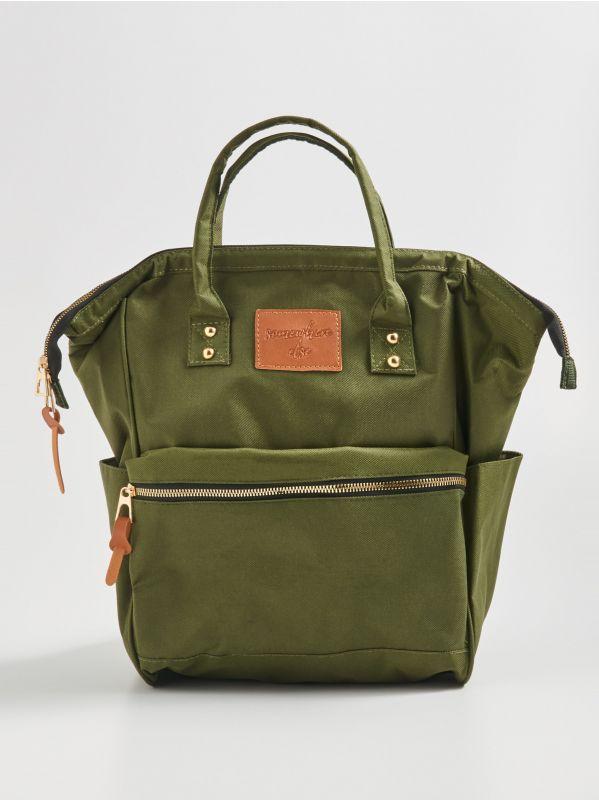 2f948fab3cbad Kufríková kabelka cez plece · Ruksak s rúčkami - khaki - WG271-87X - SINSAY